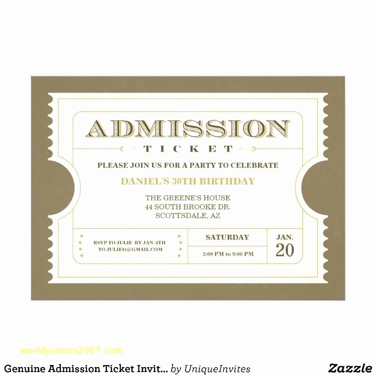 Admit One Ticket Template Word Beautiful Movie Ticket Templates Free Word formats Download Inside