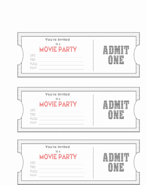 Admit One Ticket Template Word Fresh Admit E Template Example Mughals