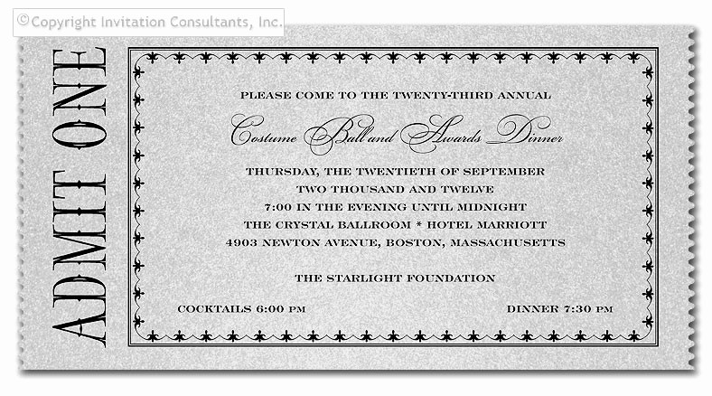 Admit One Ticket Template Word Inspirational Admit E Ticket Invitation Template