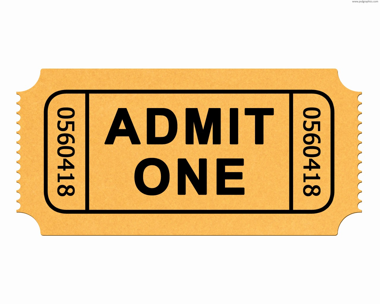 Admit One Ticket Template Word New Movie Ticket Template for Word Clipart Best