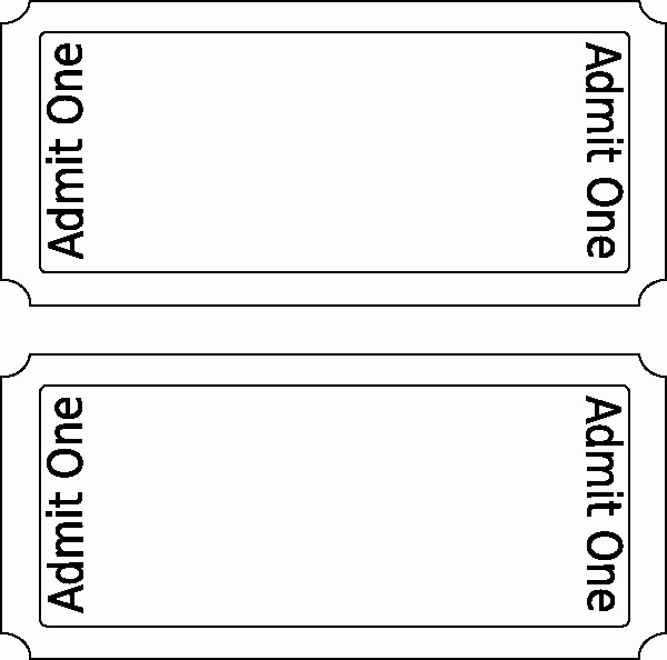 Admit One Ticket Template Word New Ticket Template Free