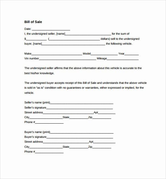 Auto Bill Of Sale Massachusetts New Car Bill Of Sale Ma Pertamini