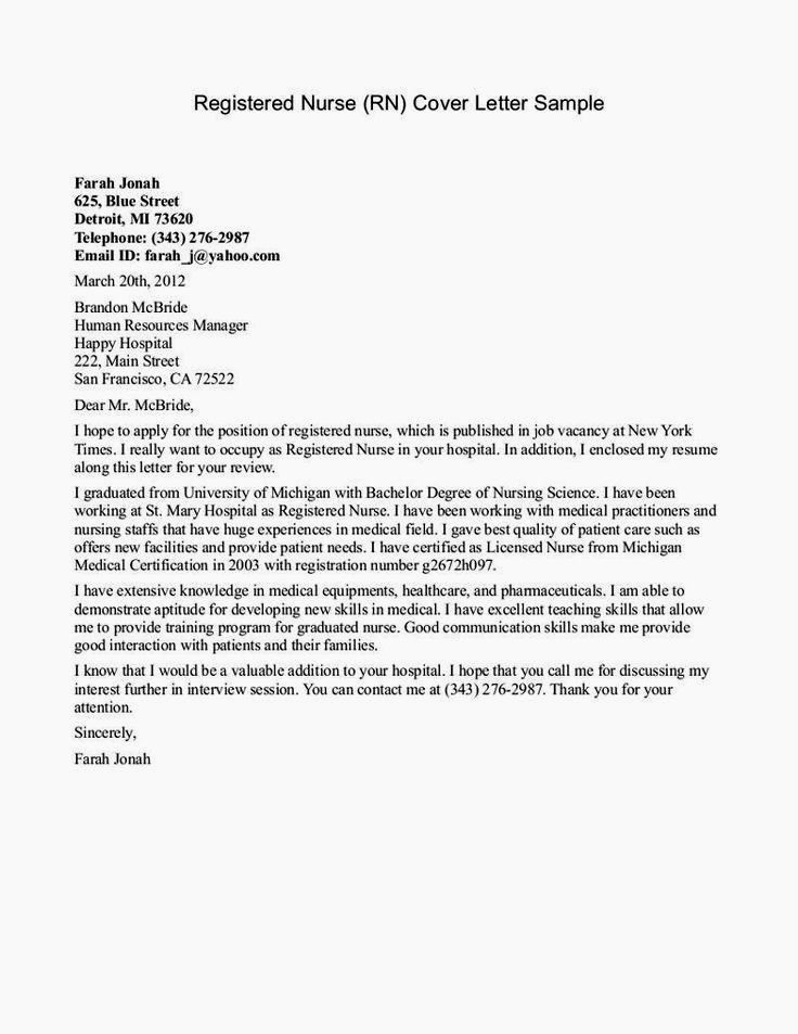 Cover Letter with Picture Template Fresh Cover Letter for Lvn Graduate Nurse Pintrest