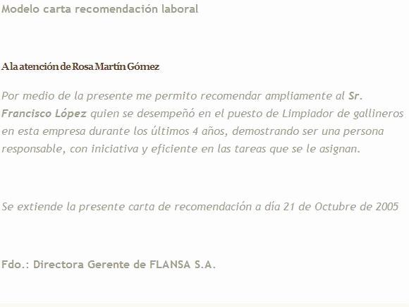 Machote Carta De Recomendacion Personal Awesome Ejemplos De Cartas De Re Endacion Laborales Etame