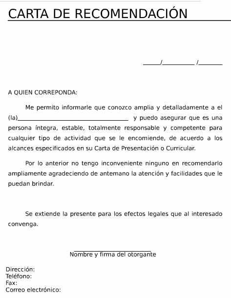 Machote Carta De Recomendacion Personal Best Of Talleres Word Laboral