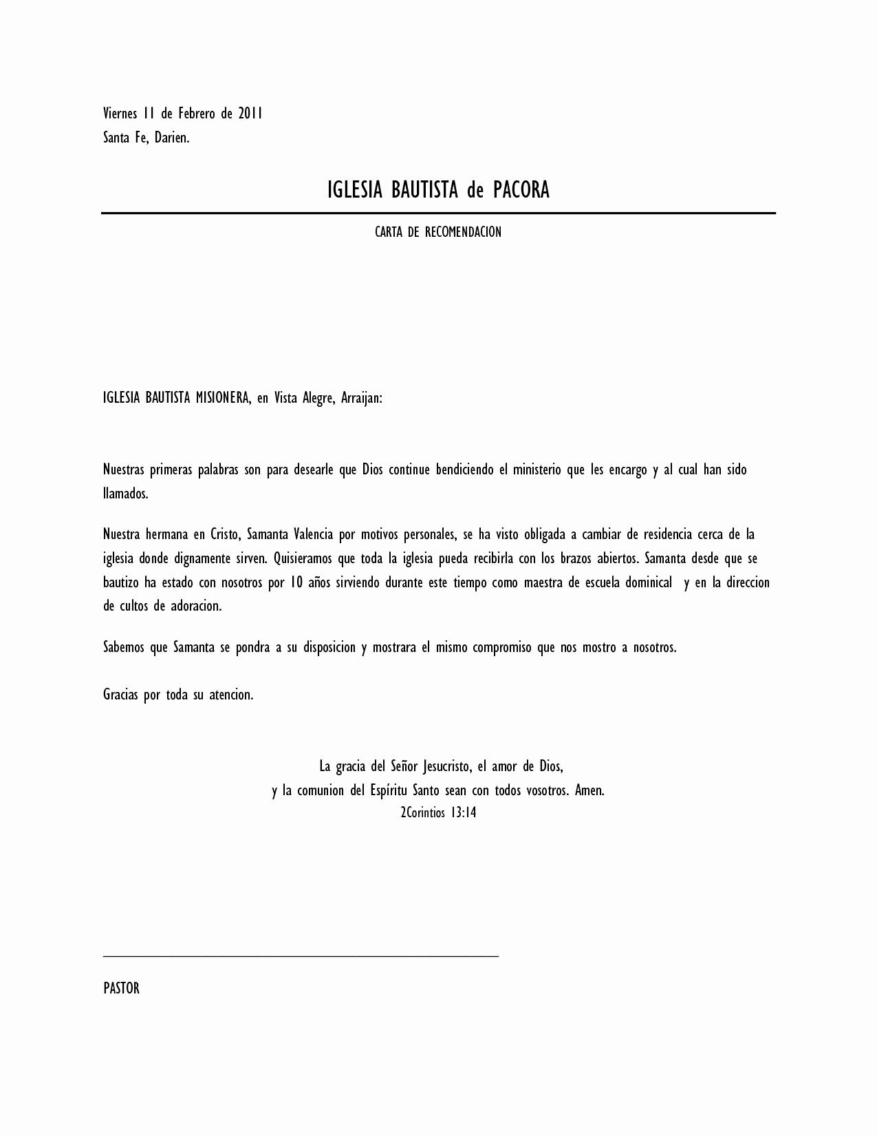 Machote Carta De Recomendacion Personal Fresh Cartas De Re Endacion Personal Imagui