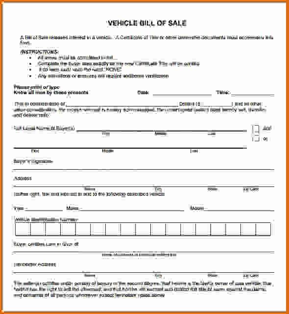 Massachusetts Car Bill Of Sale Elegant 8 Bill Of Sale Pdfreference Letters Words