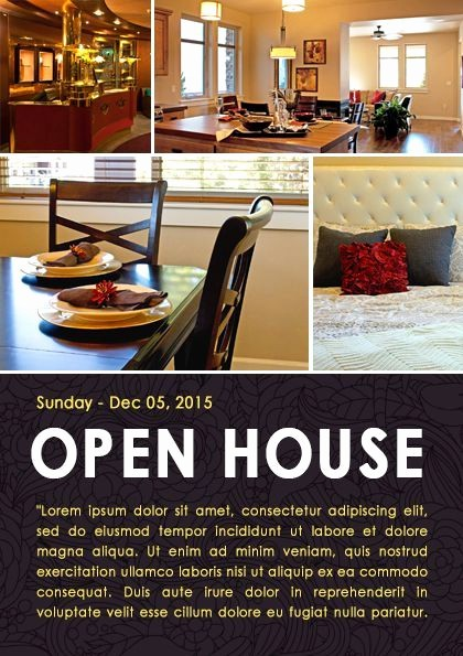 Open House Flyer Templates Free Awesome 34 Best Images About Open House Flyer Ideas On Pinterest