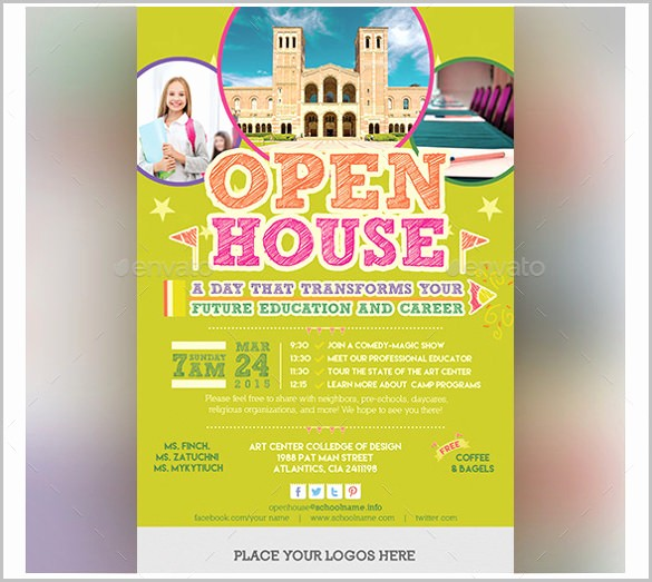 Open House Flyer Templates Free Awesome School Open House Flyer Template Invitation Templ and