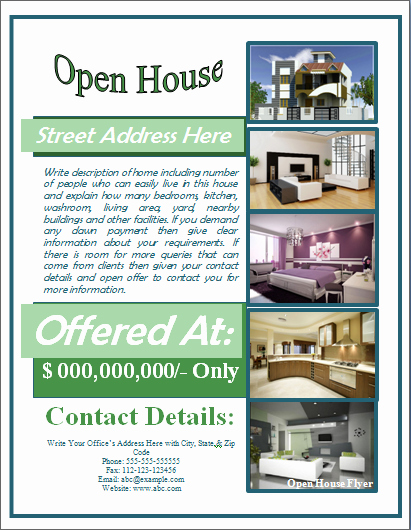 Open House Flyer Templates Free Beautiful Sample Open House Flyer Template