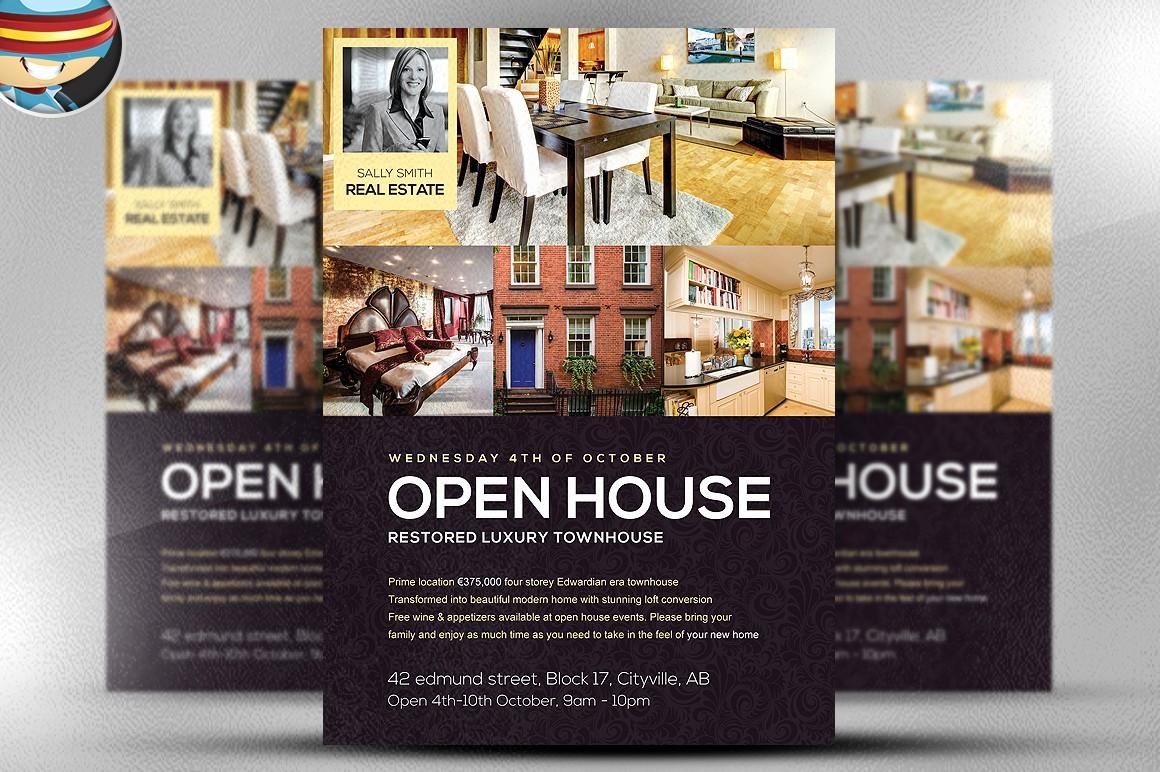 Open House Flyer Templates Free Elegant Open House Flyer Template Flyer Templates On Creative Market