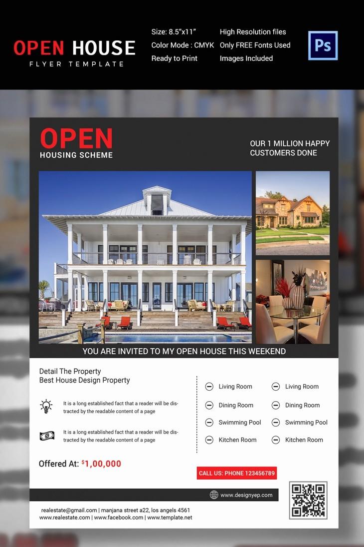 Open House Flyer Templates Free Fresh 27 Open House Flyer Templates Printable Psd Ai Vector