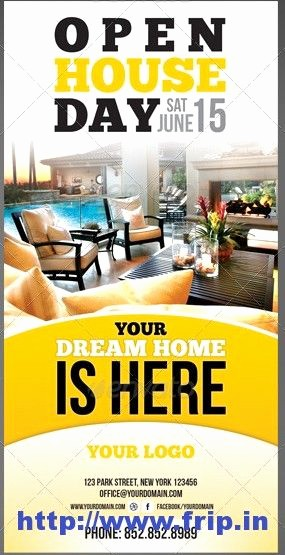 Open House Flyer Templates Free Fresh Real Estate Open House Flyer Template