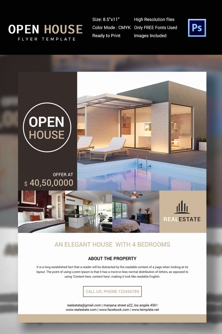 Open House Flyer Templates Free Inspirational 27 Open House Flyer Templates Printable Psd Ai Vector
