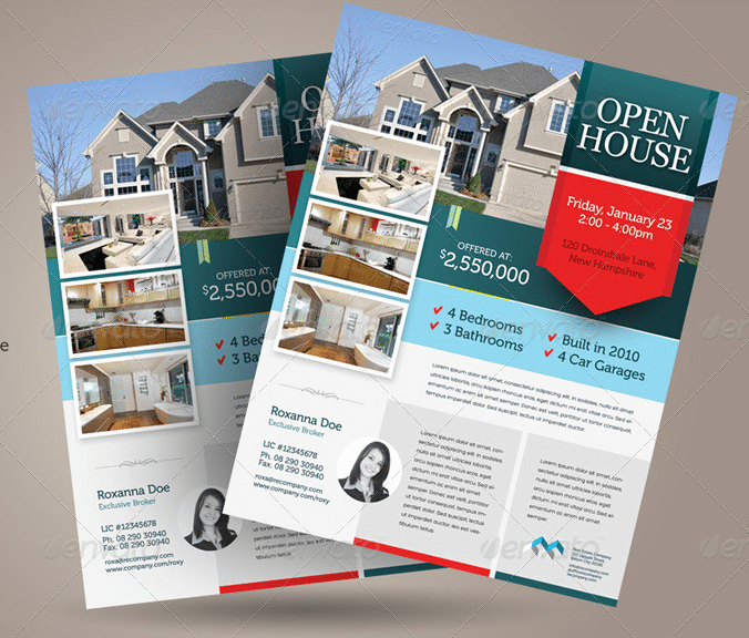 Open House Flyer Templates Free Inspirational Free Open House Flyer Templates – Download & Customize