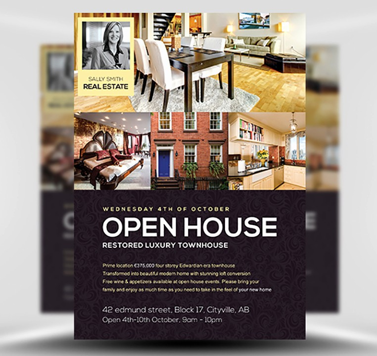 Open House Flyer Templates Free Inspirational Open House Flyer Template Flyerheroes