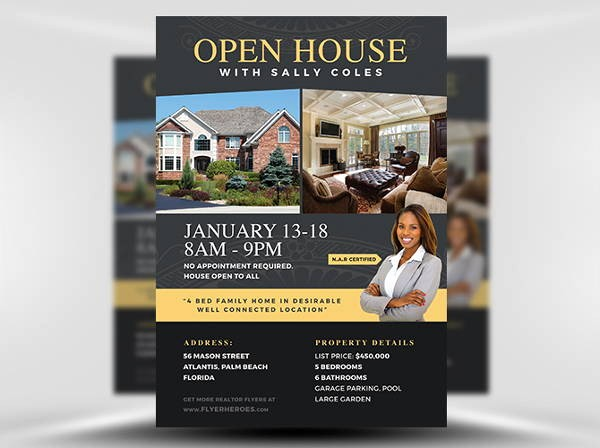Open House Flyer Templates Free Lovely 9 Realtor Flyers Printable Psd Ai Vector Eps format