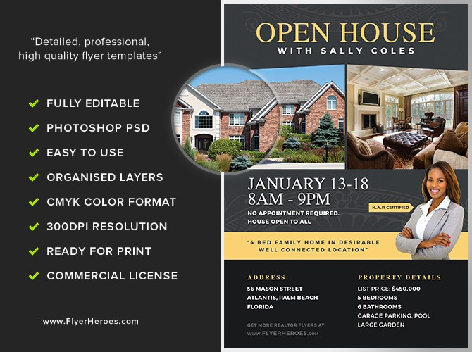 Open House Flyer Templates Free Lovely Open House Flyer Template 2 Flyerheroes