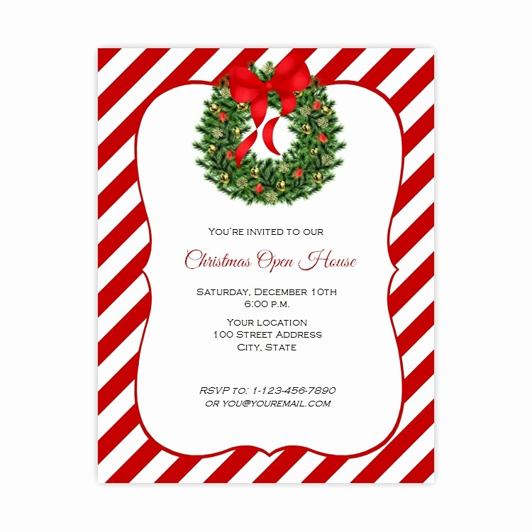 Open House Flyer Templates Free Unique Christmas Open House Flyer Template Free Templates Data