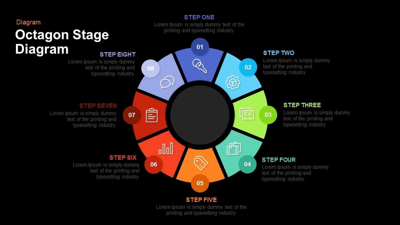 Process Flow Diagram Powerpoint Template Awesome Octagon Stage Process Flow Powerpoint and Keynote Template