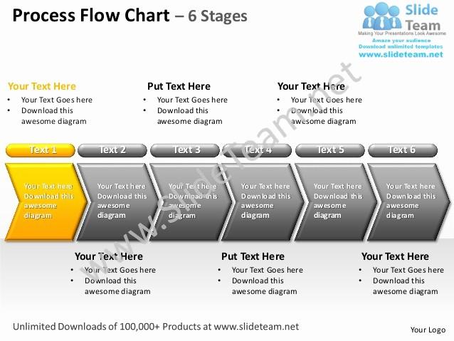 Process Flow Diagram Powerpoint Template Beautiful Process Flow Chart 6 Stages Powerpoint Templates 0712