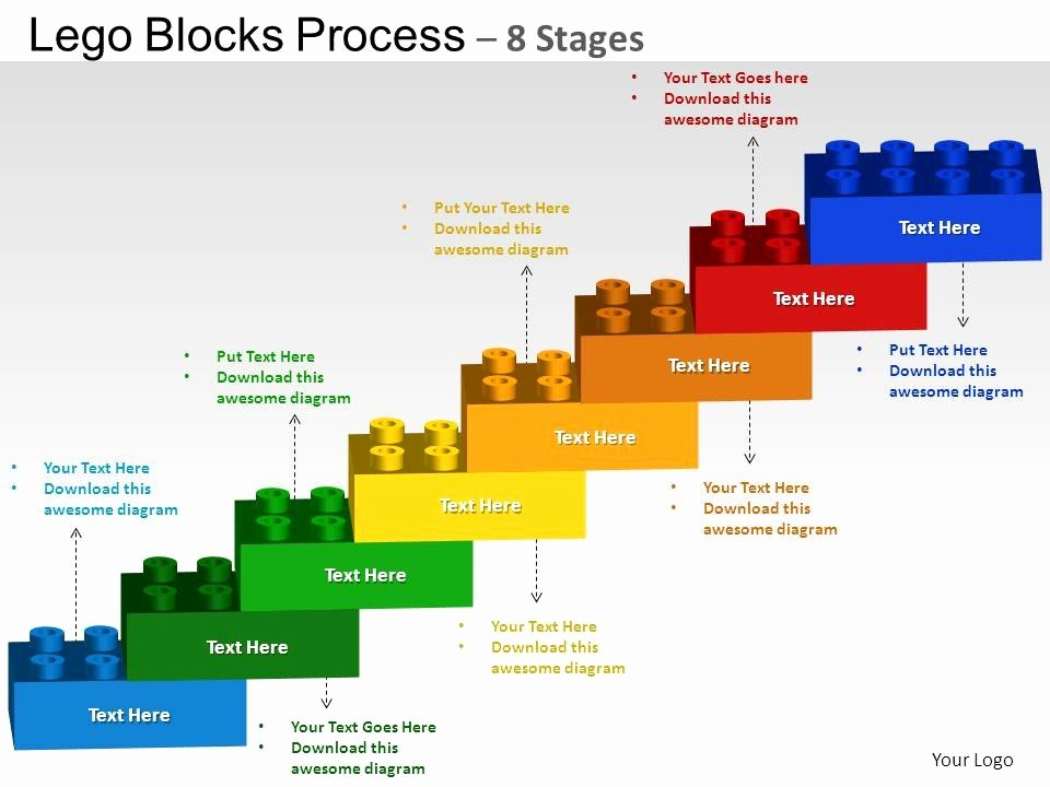 Process Flow Diagram Powerpoint Template Best Of Lego Blocks Flowchart Process Diagram 8 Stages Powerpoint