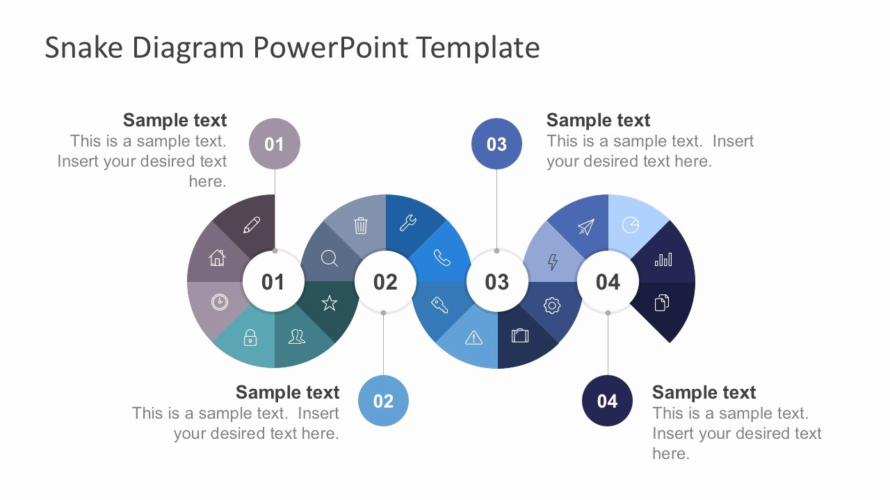 Process Flow Diagram Powerpoint Template Elegant Free Snake Diagram with Thin Icons Slidemodel