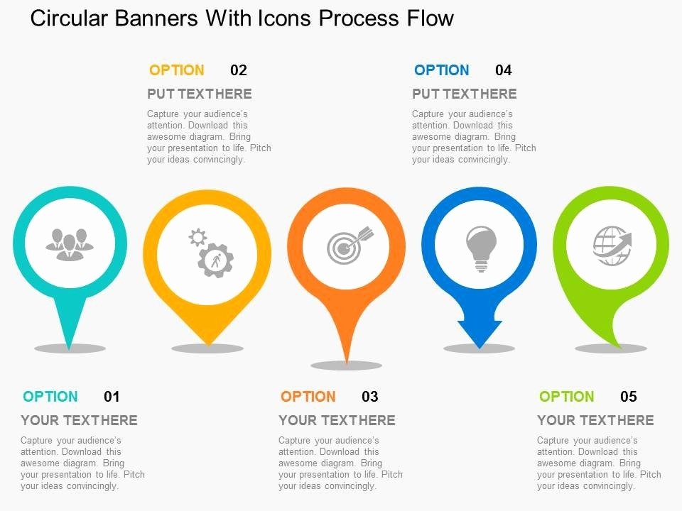 Process Flow Diagram Powerpoint Template Fresh Circular Banners with Icons Process Flow Flat Powerpoint