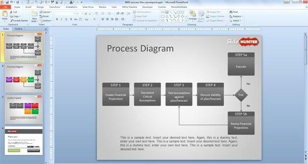 Process Flow Diagram Powerpoint Template Inspirational Process Flow Chart Template Powerpoint Free Process Flow