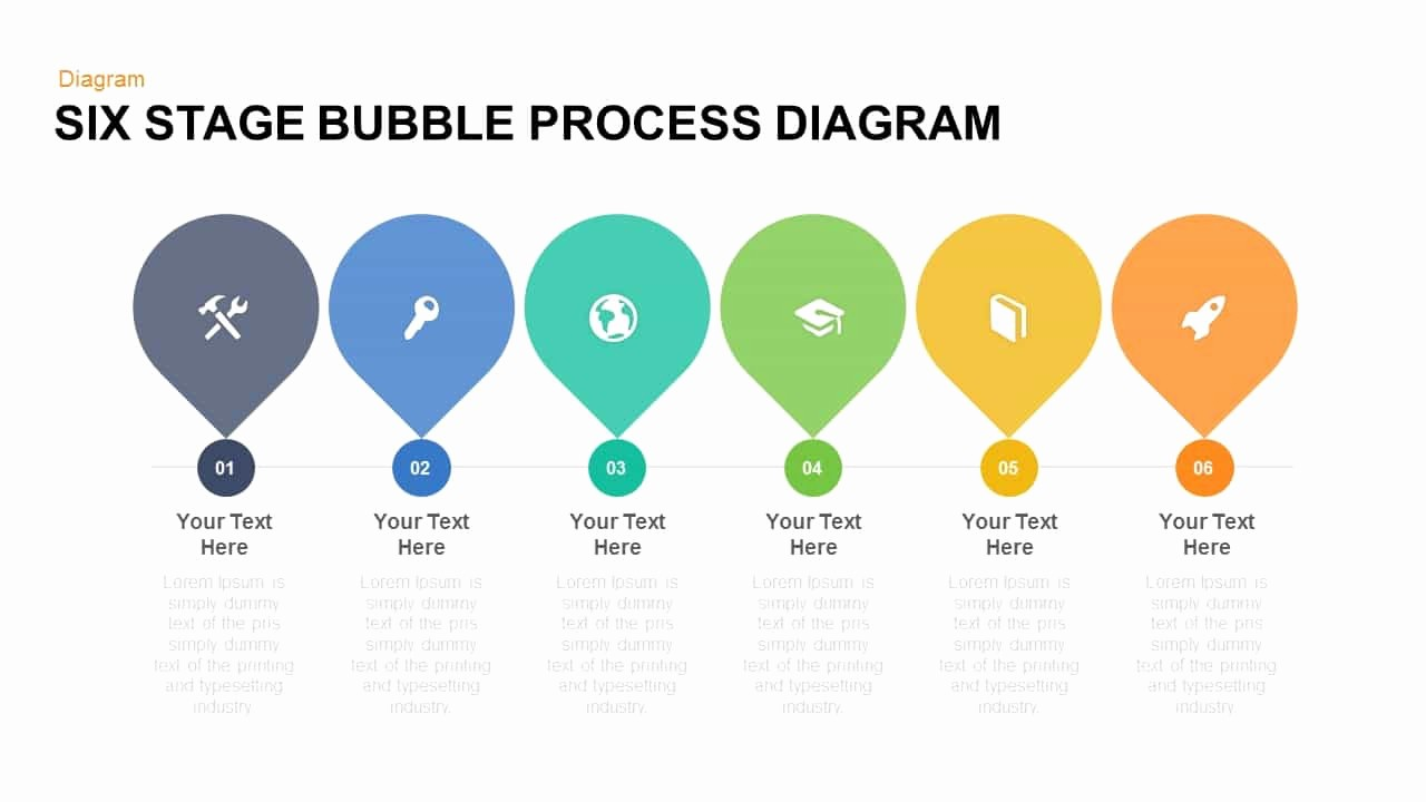 Process Flow Diagram Powerpoint Template Inspirational Six Stage Bubble Process Diagram Free Powerpoint and