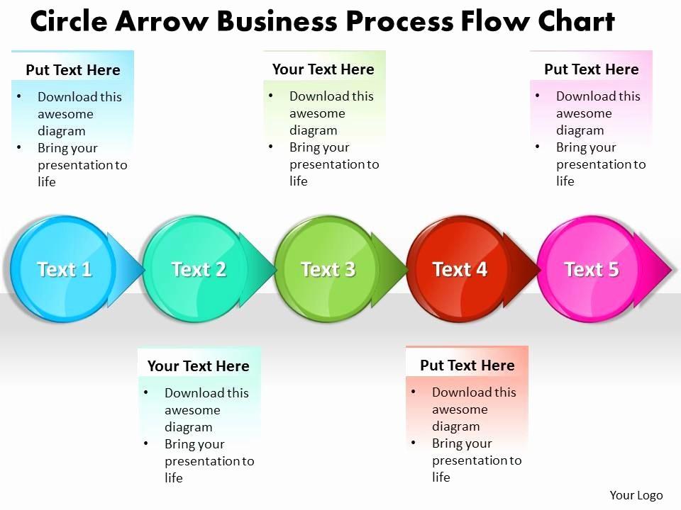 Process Flow Diagram Powerpoint Template Luxury Business Powerpoint Templates Circle Arrow Process Flow