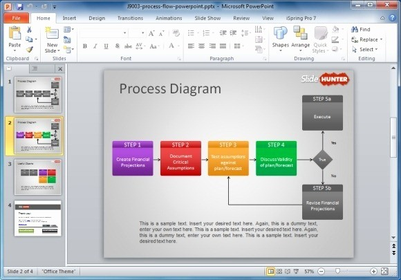 Process Flow Diagram Powerpoint Template Luxury How to Make A Flowchart In Powerpoint