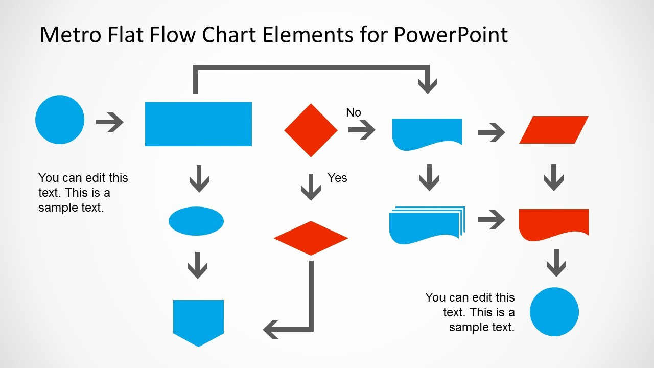 Process Flow Diagram Powerpoint Template Luxury Metro Style Flow Chart Template for Powerpoint Slidemodel