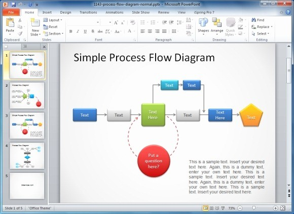 Process Flow Diagram Powerpoint Template New How to Make A Flowchart In Powerpoint