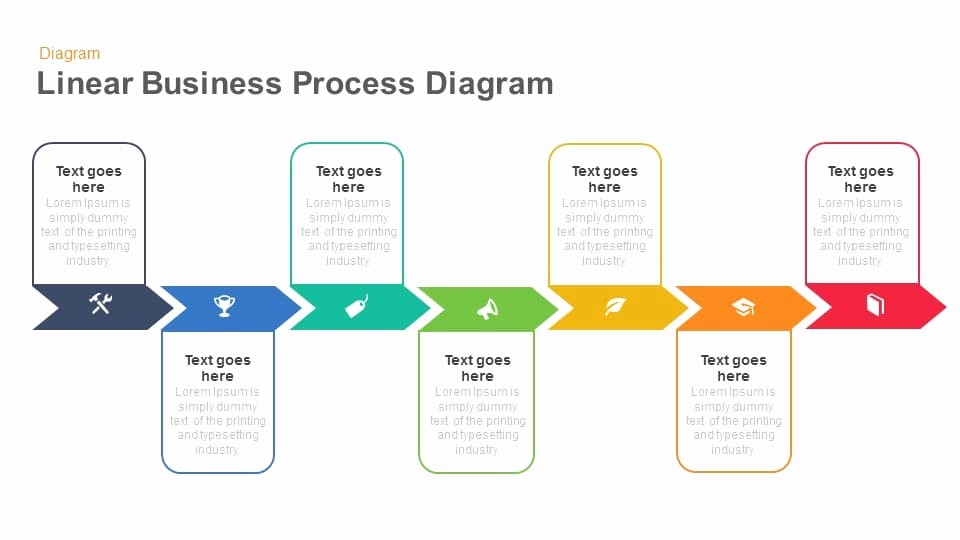 Process Flow Diagram Powerpoint Template Unique Linear Business Process Diagram Keynote and Powerpoint