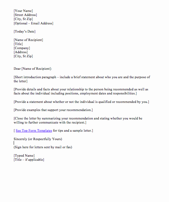 Recommendation Letter format for Student Elegant Reference Letter for Student Sample