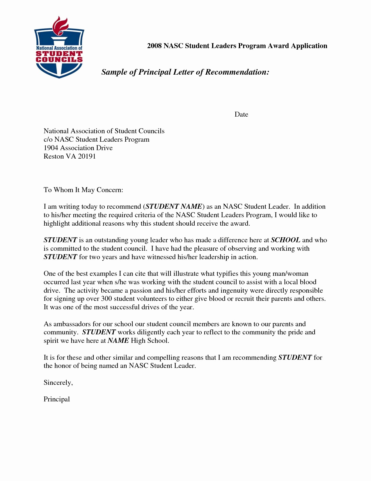 Recommendation Letter format for Student Elegant Sample Re Mendation Letter for Student