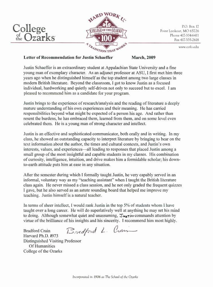 Recommendation Letter format for Student Inspirational Re Mendation Letter for Phd Student From Professor