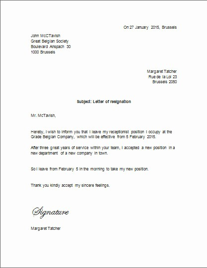 Resignation Letter Templates for Word Luxury Resignation Letter Template Microsoft Word