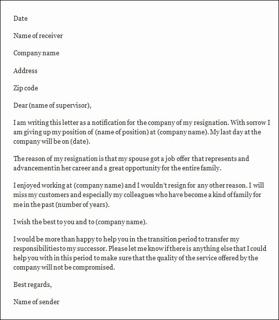 Resignation Letter Templates for Word New Resignation Letter Template