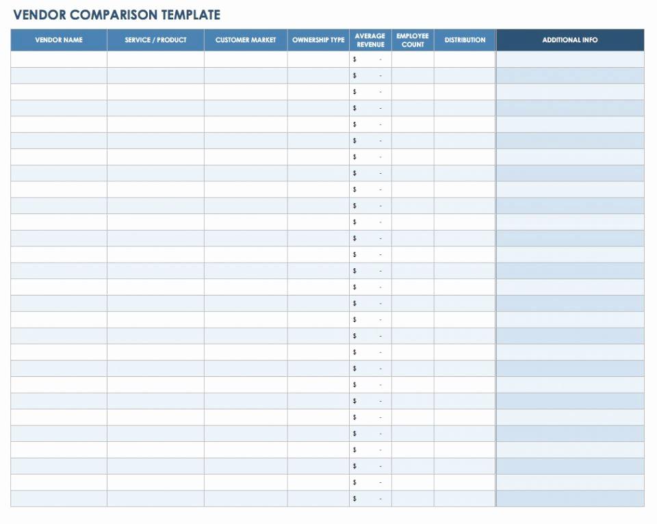 Vendor Information form Template Excel Best Of 13 Free Vendor Templates