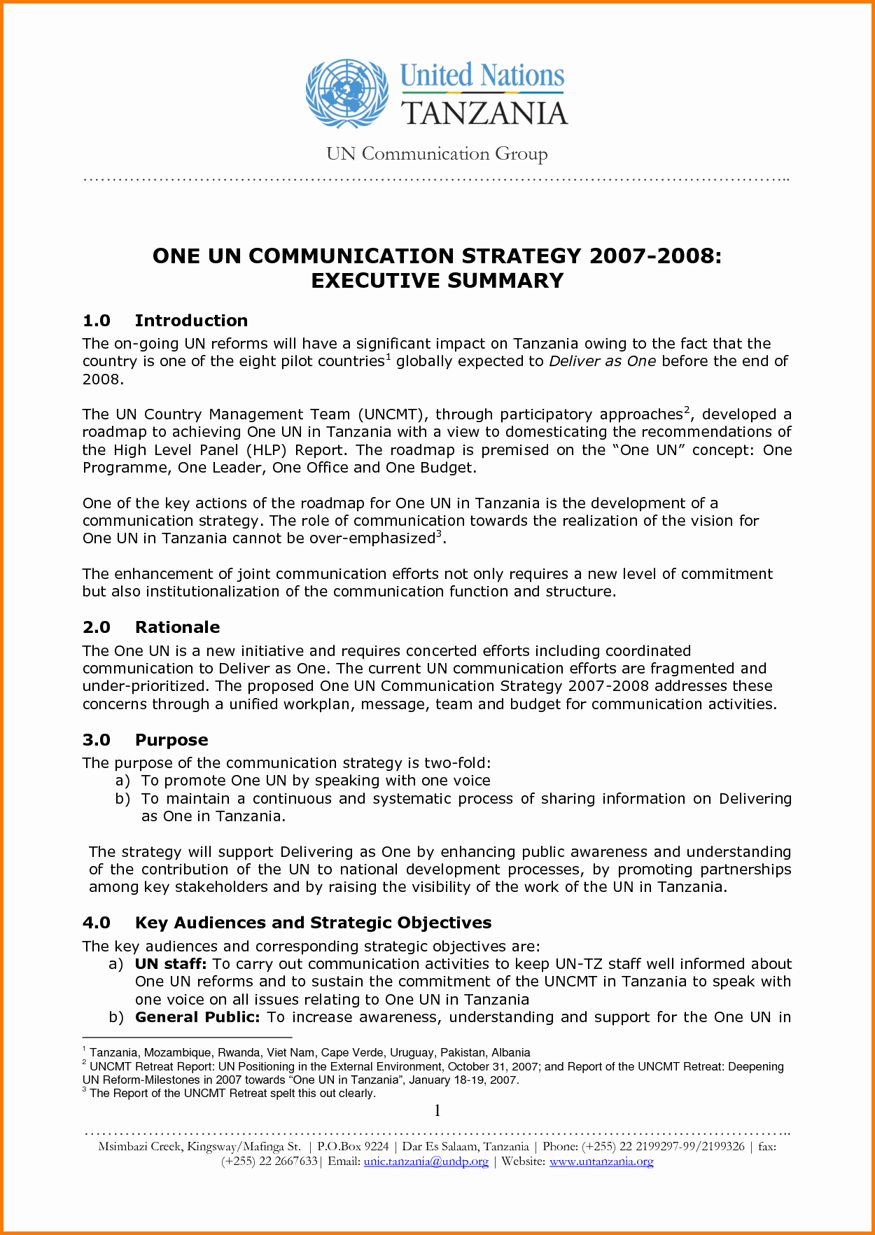 1 Page Executive Summary Template Awesome 6 Executive Summary Real Life Examples