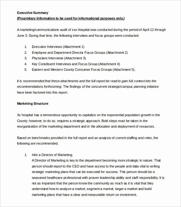 1 Page Executive Summary Template Elegant 31 Executive Summary Templates Free Sample Example