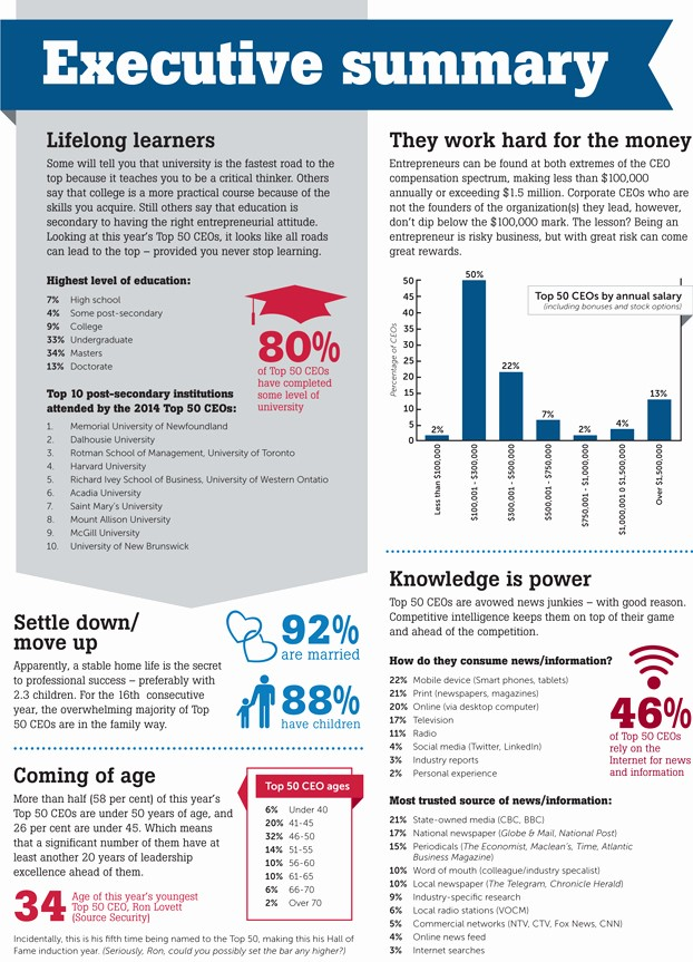 1 Page Executive Summary Template Elegant Infographic Executive Summary