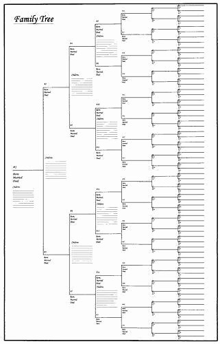 10 Generation Family Tree Excel Beautiful Family Tree Chart
