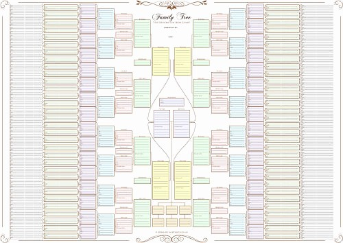 10 Generation Family Tree Excel Best Of Family Tree Chart 10 Generation Bow Tie Chart In Pastel