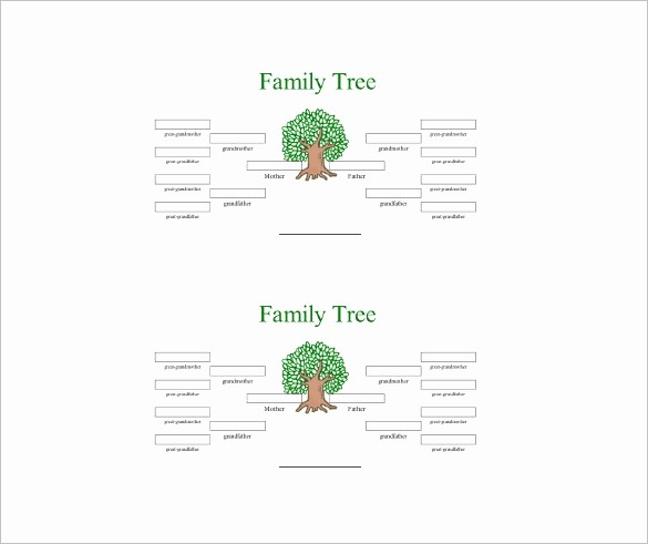10 Generation Family Tree Excel Elegant 4 Generation Family Tree Template Word Invitation Template