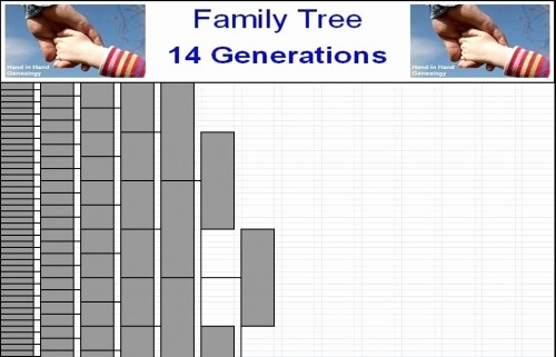 10 Generation Family Tree Excel Elegant Family Tree Charts 14 Generations Emailed Parish Chest