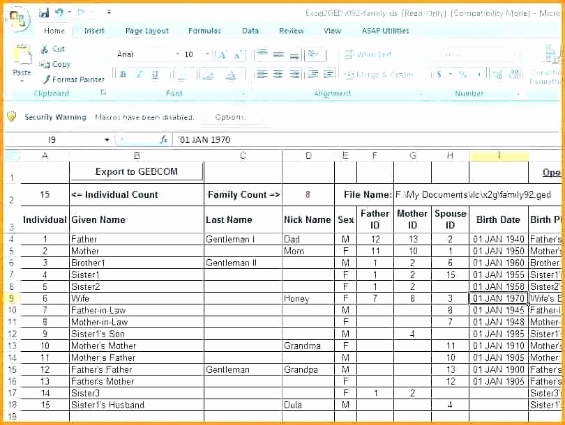 10 Generation Family Tree Excel Inspirational Excel Family Tree Create Download Free Editable Family