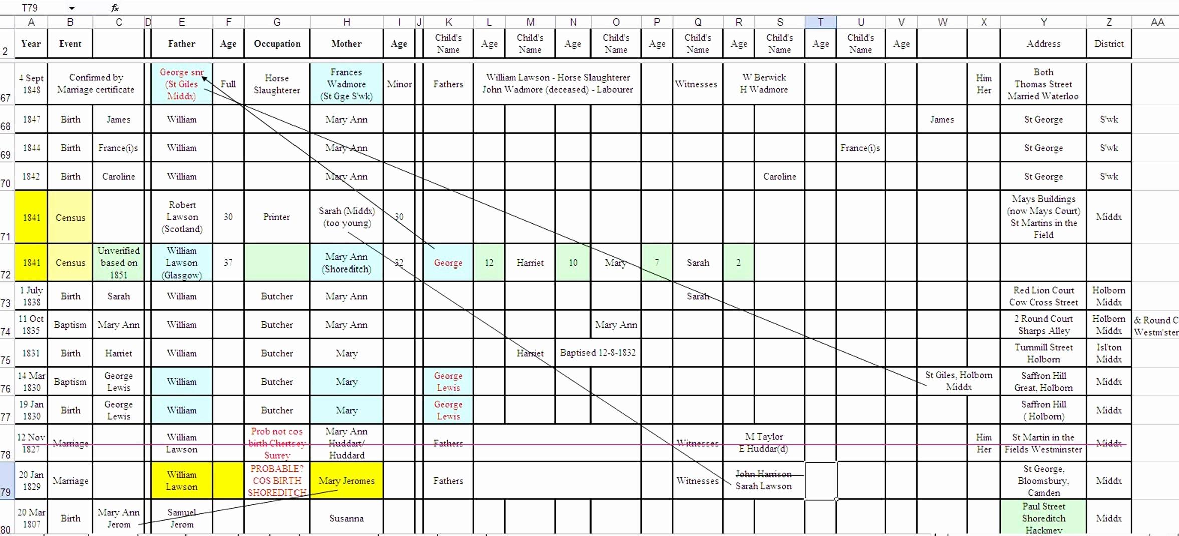 10 Generation Family Tree Excel Unique Family Tree Spreadsheet